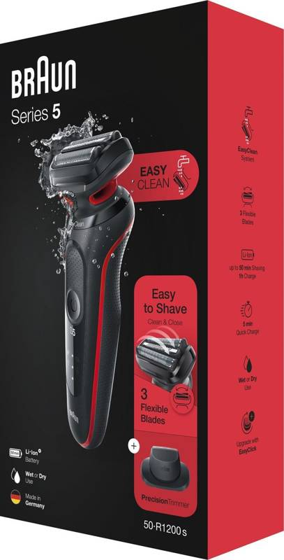 Braun Series 5 50-R1200s red