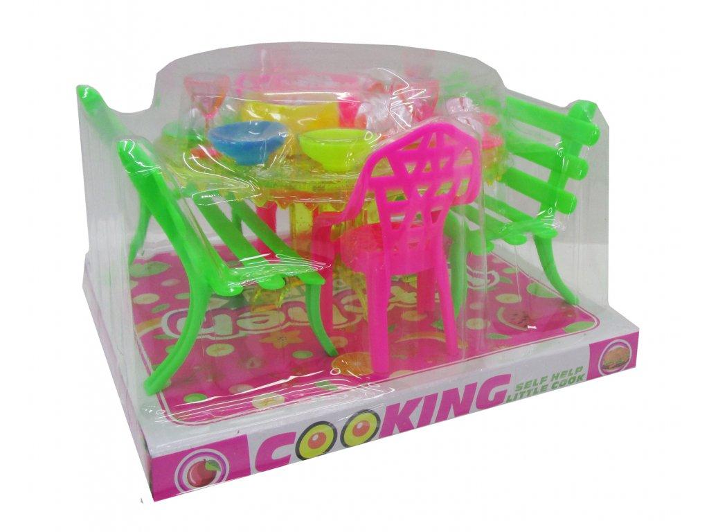 Sestava nábytku pro panenky s doplňkami