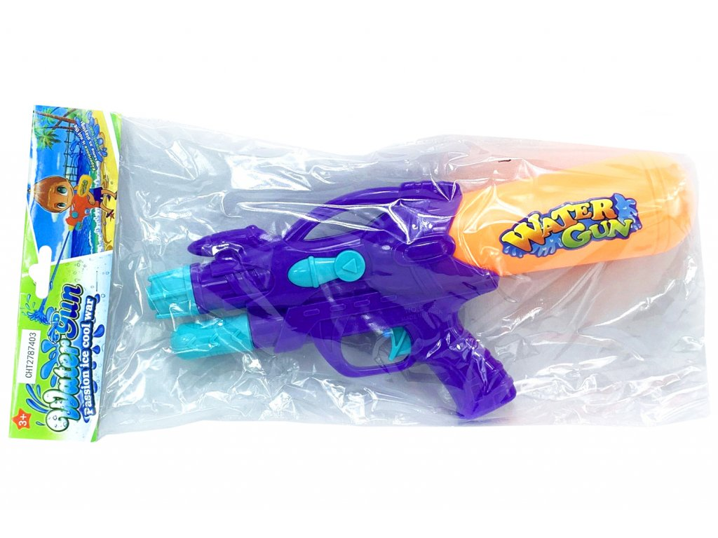 Pistol na vodu fialová