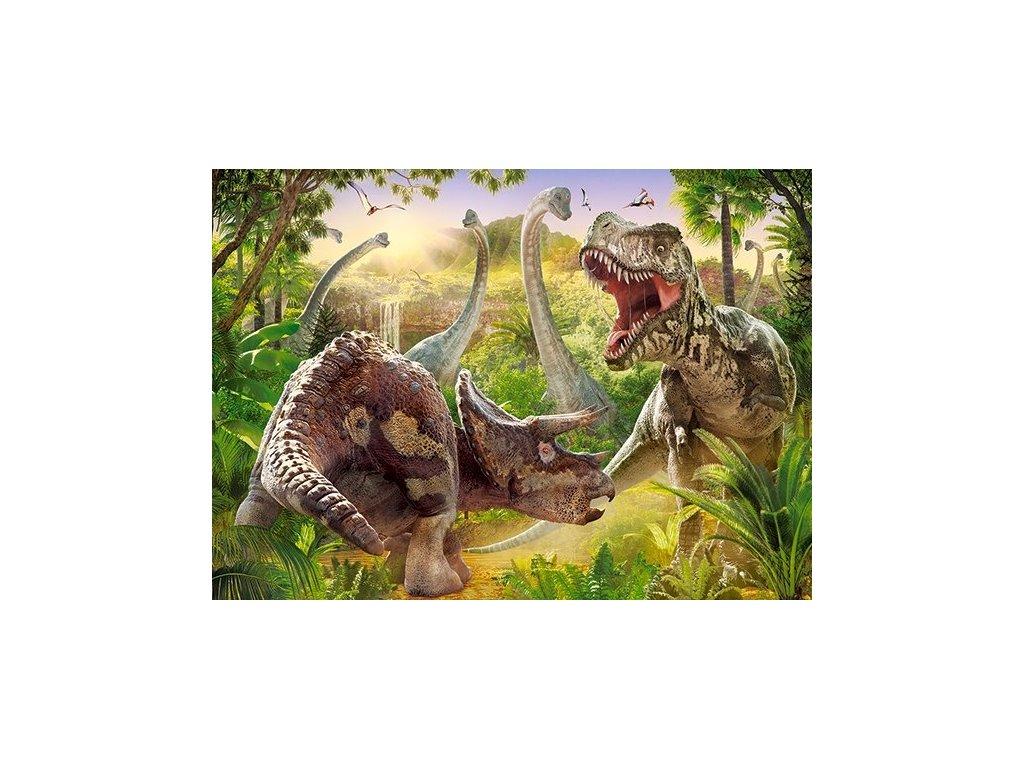 Puzzle Souboj dinosaurů 180 dílků