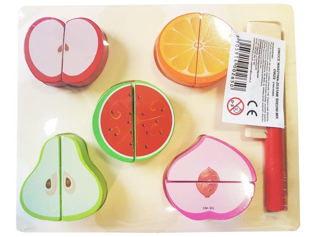Dřevěné ovoce a zelenina střední