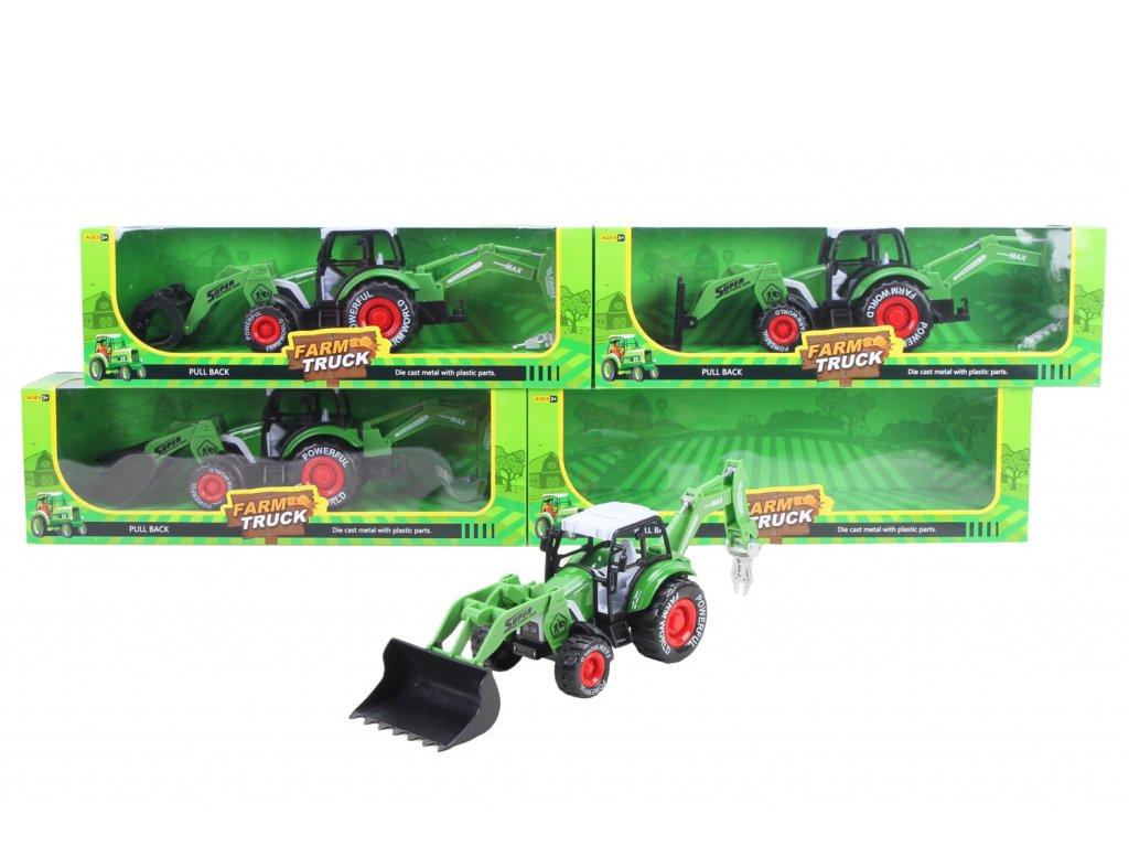 Kovový traktor s příslušenstvím mix