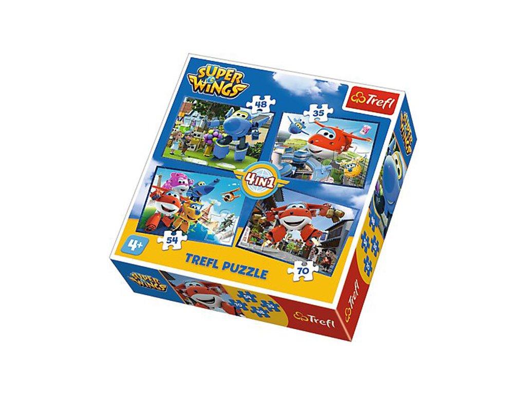 Puzzle Super Wings Skvělý tým 4v1 (35,48,54,70 dílků)
