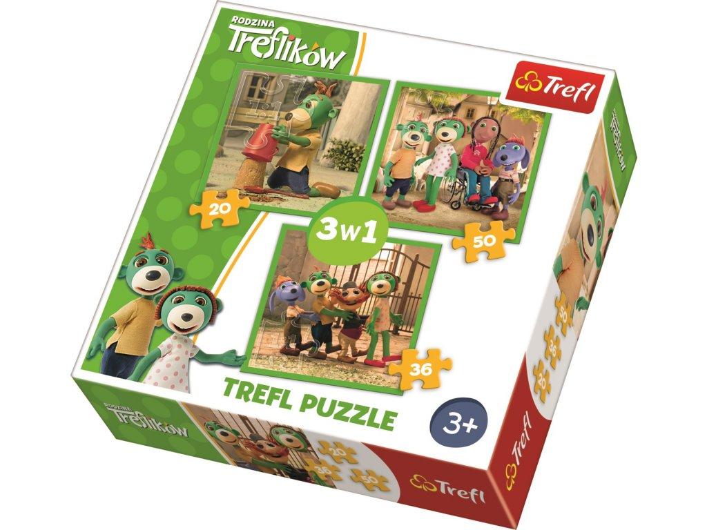 Puzzle Treflíci 3v1 (20,36,50 dílků)