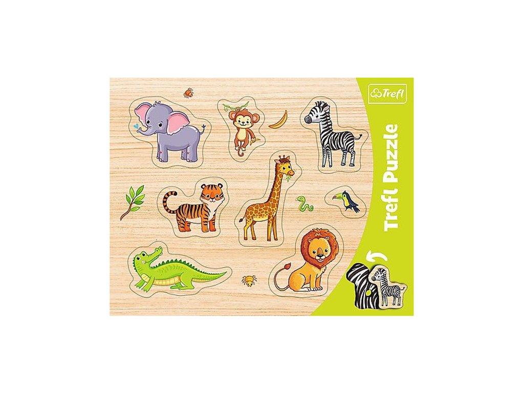 Vkládačka puzzle Safari 7 dílků