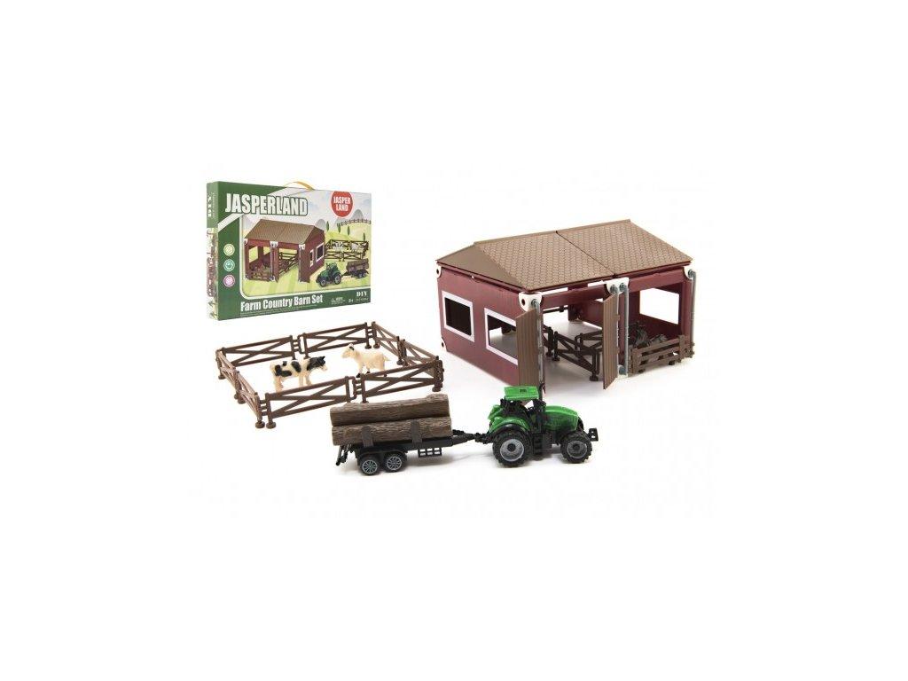 Sada domácí farma se zvířátky a traktorem