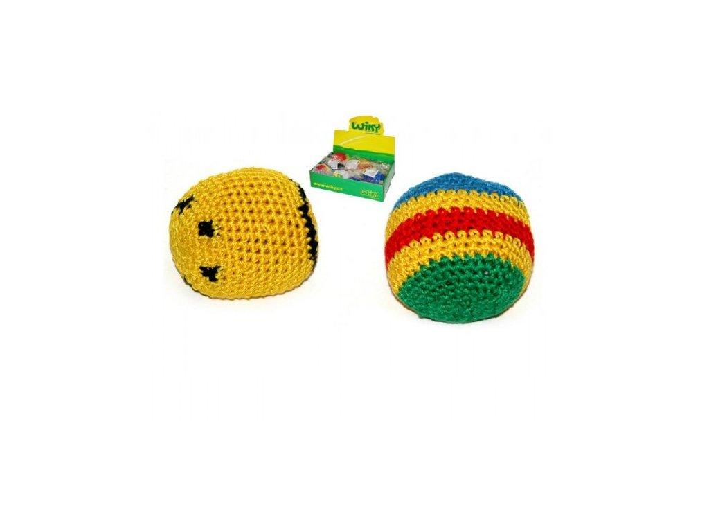 Hakysák míček footbag háčkovaný