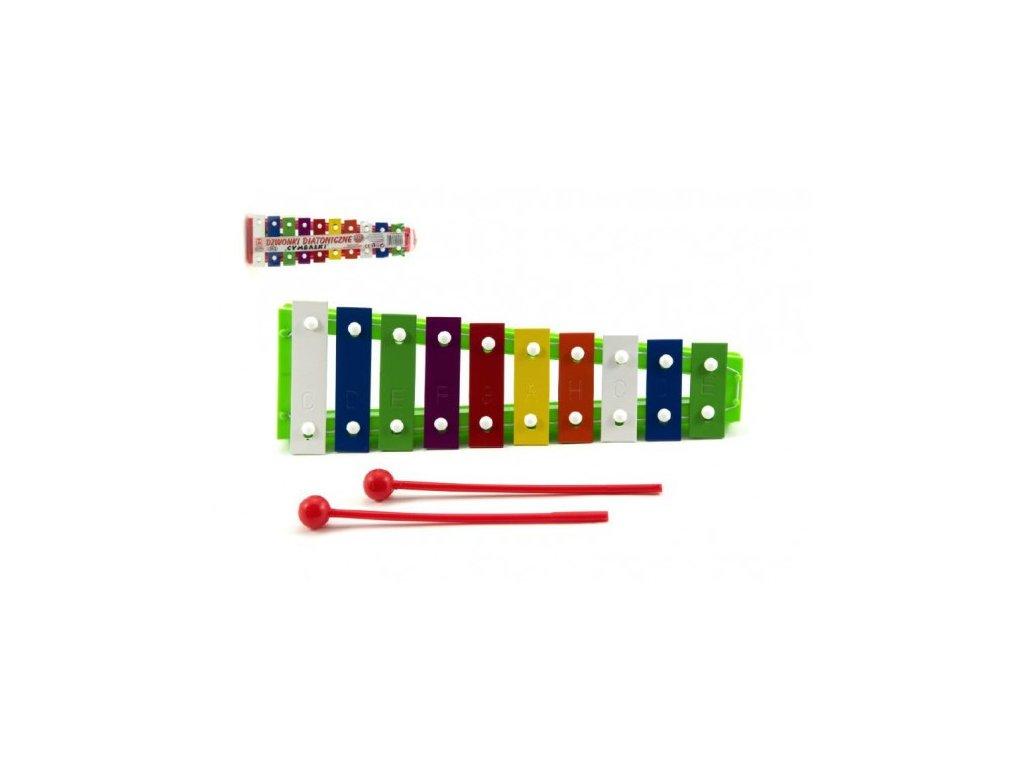 Xylofon kov/plast + 2 paličky