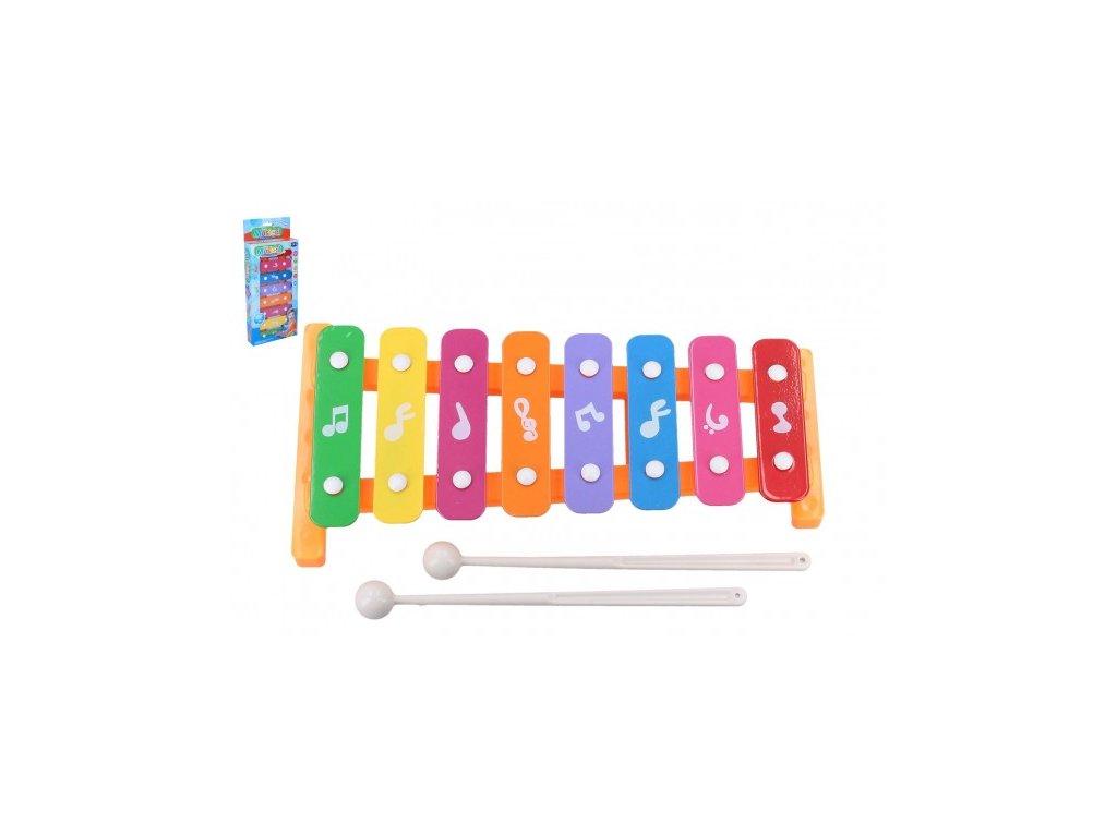 Xylofon  kov/plast a 2 paličky