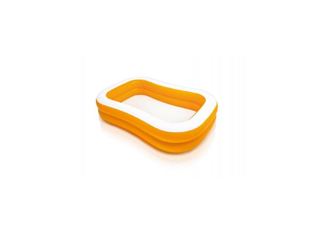 Dětský nafukovací bazén Obdélník oranžový