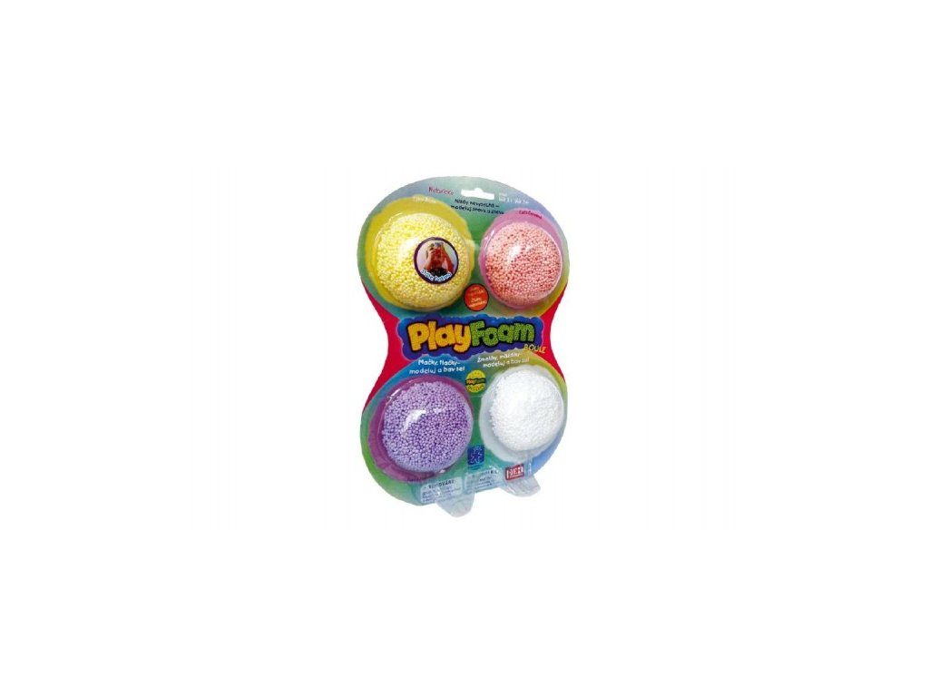 PlayFoam Modelína/Plastelína kuličková 4 barvy