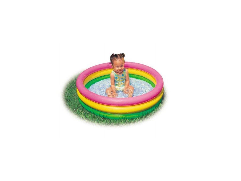 Dětský nafukovací bazén duhový 3 komory