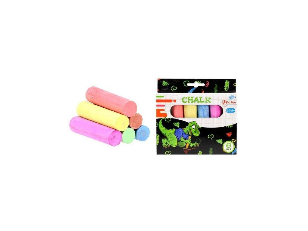 Křídy barevné chodníkové 6ks