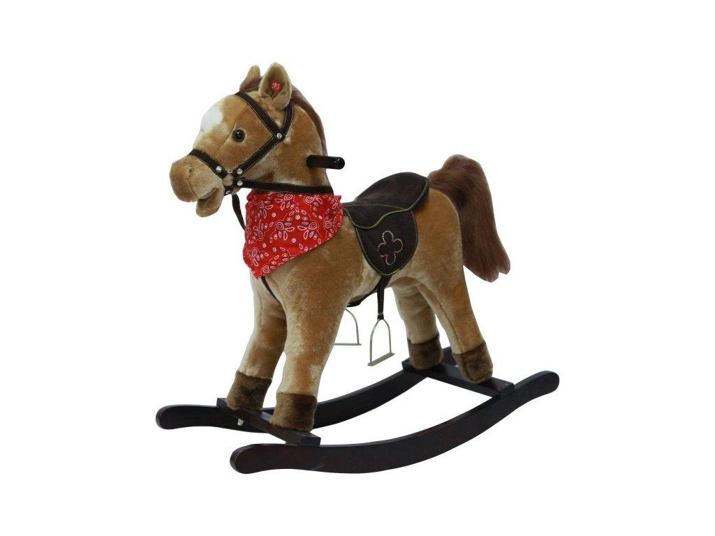 Kůň houpací hnědý plyšový