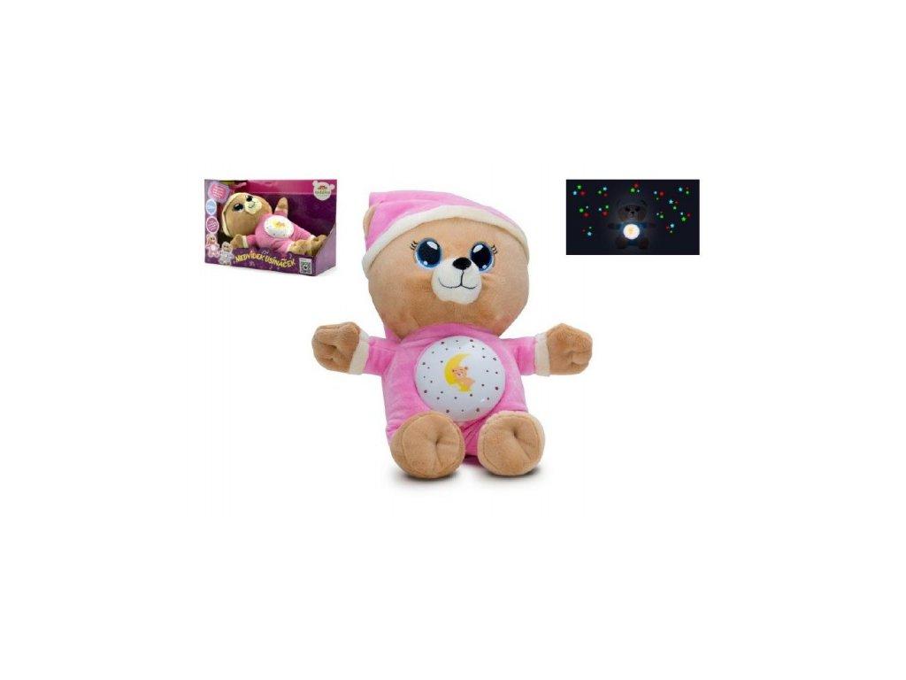 Medvídek Usínáček růžový se světlem a zvukem