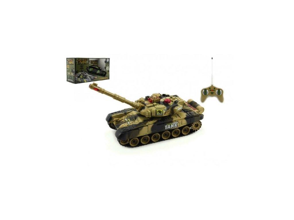 Tank RC T-80 s dobíjecím packem+adaptér na baterie 2 druhy
