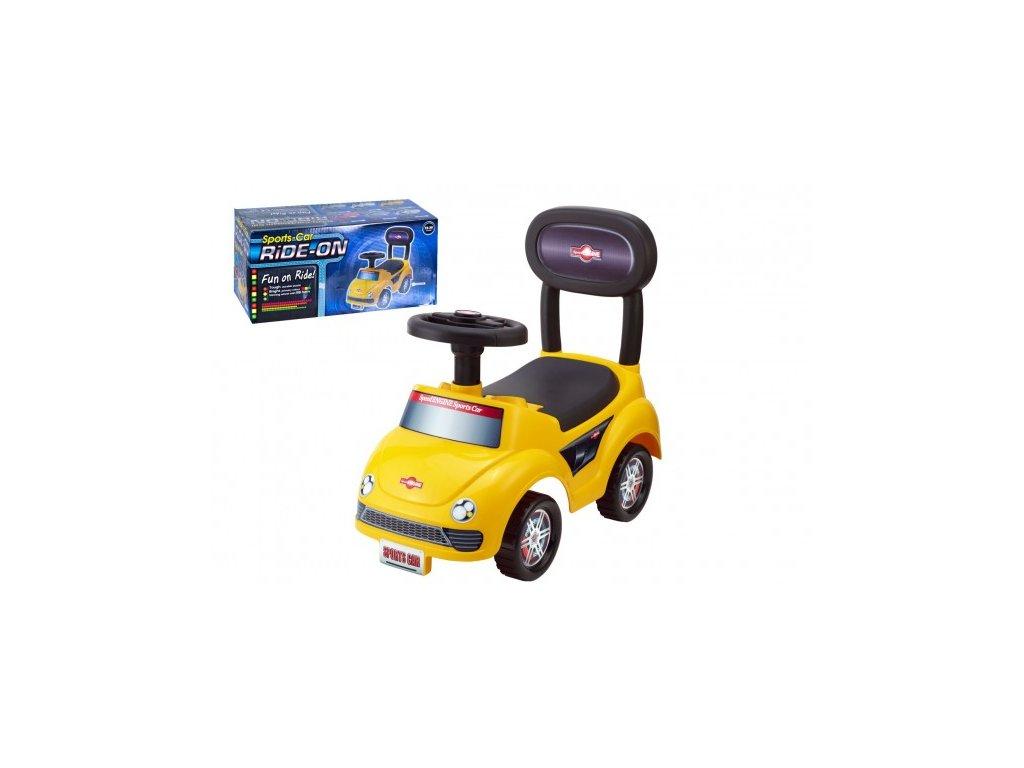 Odrážedlo auto plast žluté
