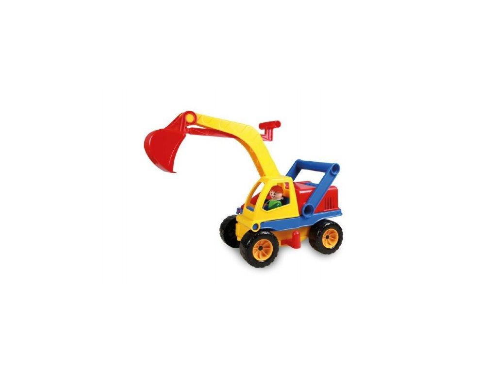 Auto bagr s figurkou aktivní