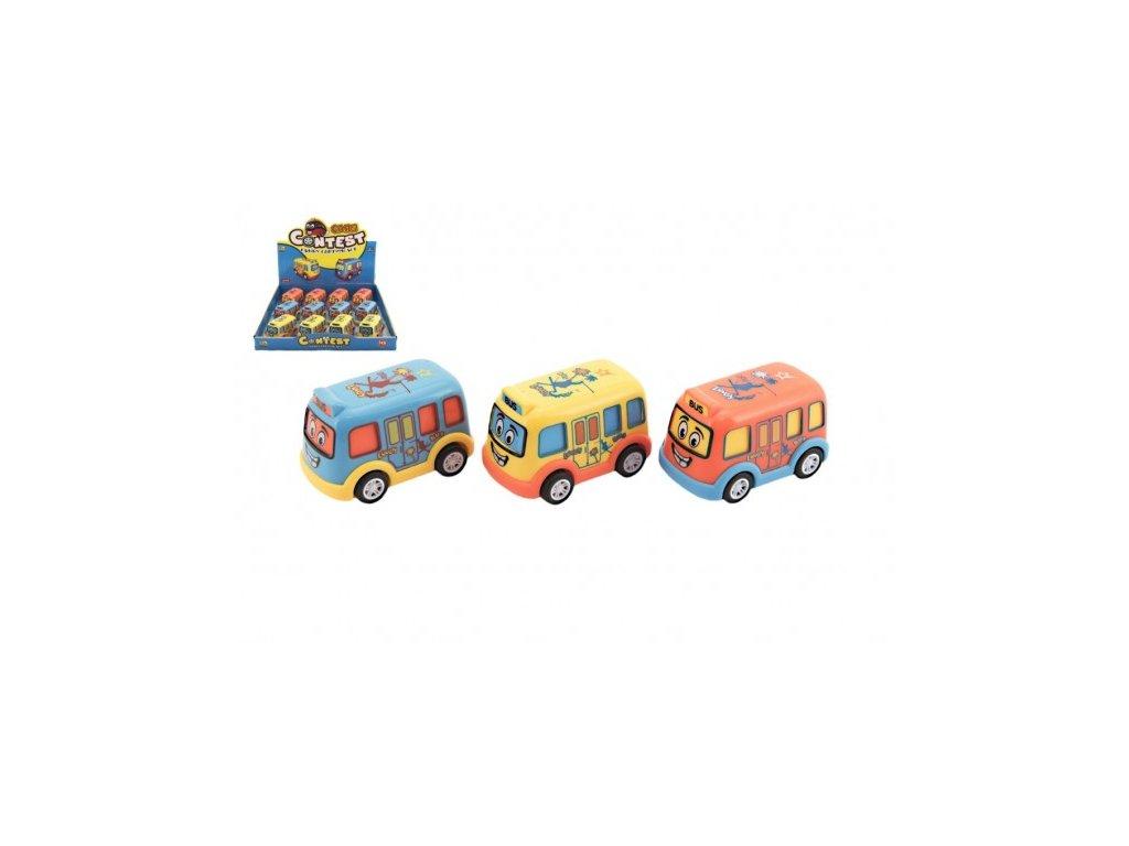 Autobus pro nejmenší na setrvačník 3 barvy