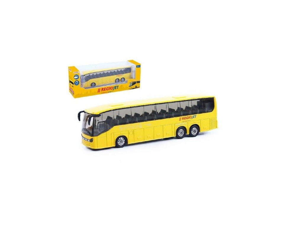Autobus RegioJet na zpětné natažení