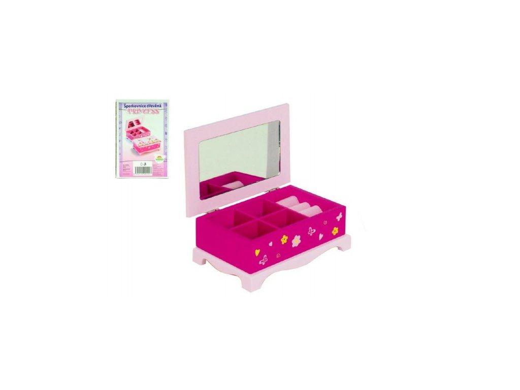 Skříňka šperkovnice Princess zrcadlo