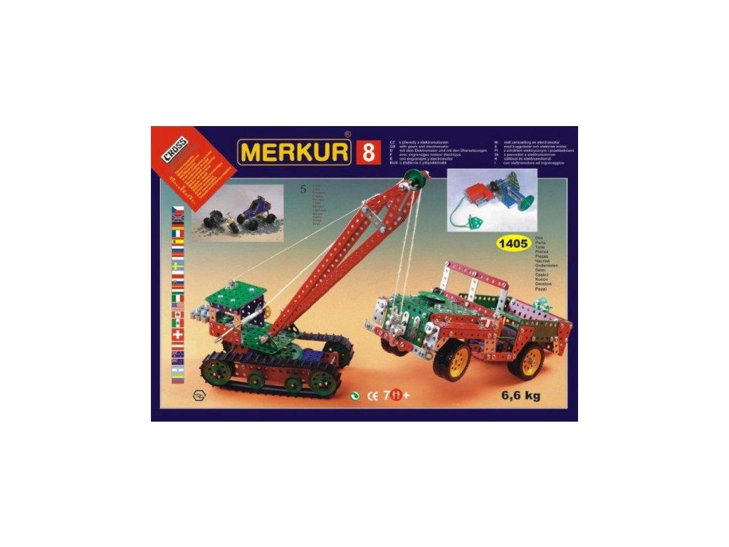 Stavebnice MERKUR 8 130 modelů 1405ks 5 vrstev