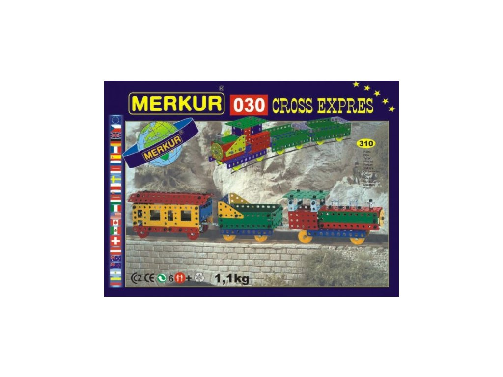 Stavebnice MERKUR 030 Cross expres 10 modelů