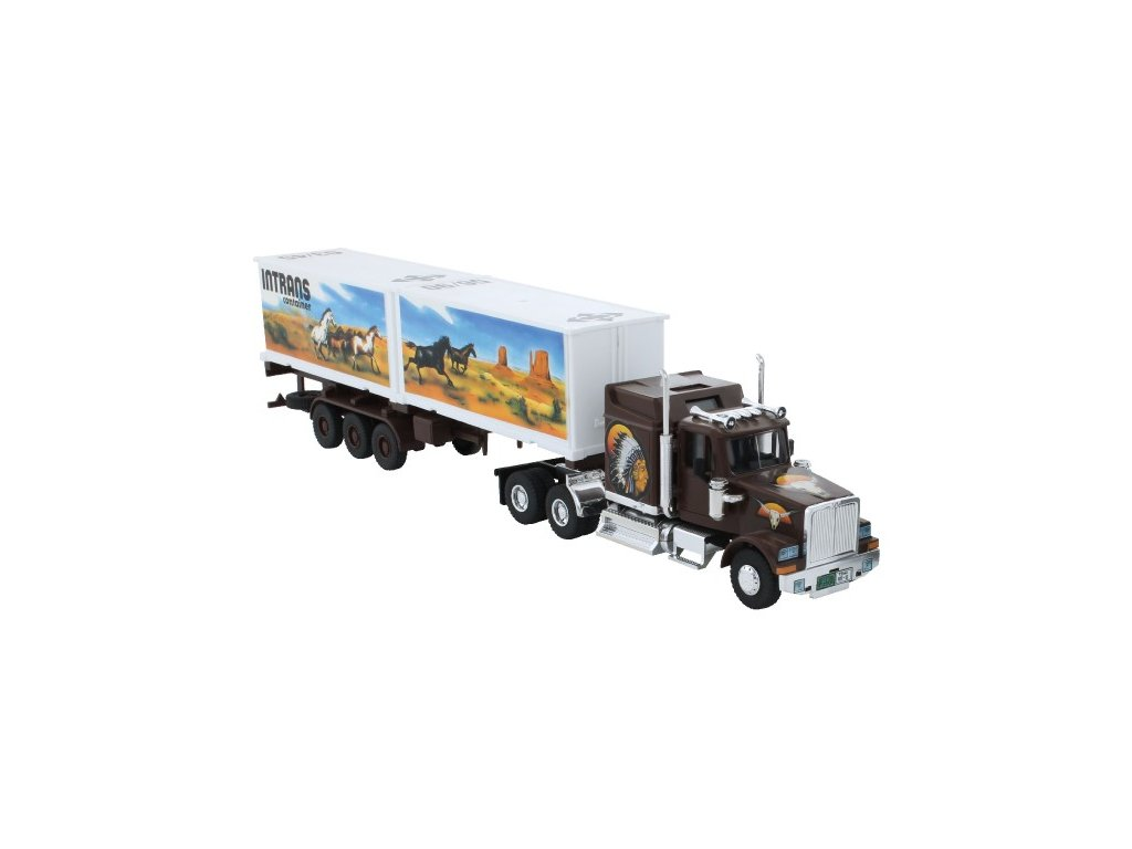 Stavebnice Monti 25 Intrans Container Western star 1:48