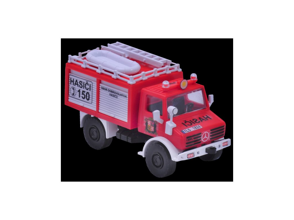 Stavebnice Monti 16 Fire Brigade Mercedes Unimog 1:48