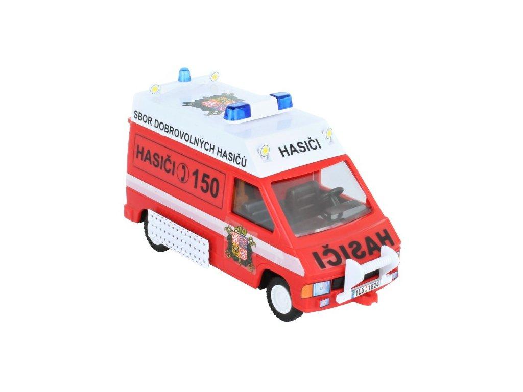 Stavebnice Monti 45 Fire Brigade-Renault Trafic 1:35
