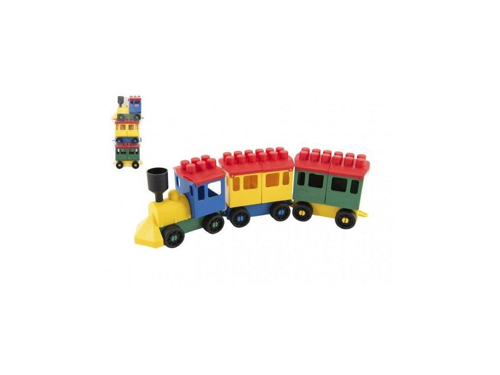 Stavebnice LORI 7 vlak + 2 vagónky