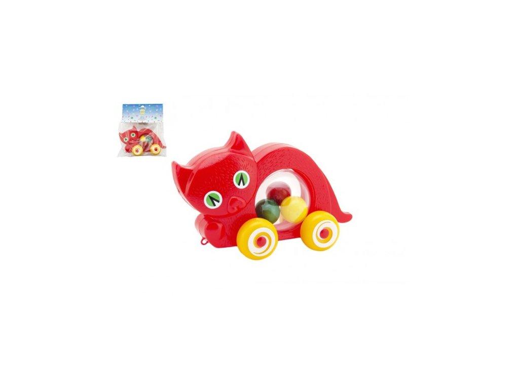 Kočka s míčky tahací