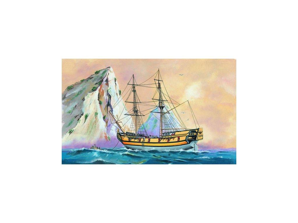 Model Black Falcon Pirátská loď 1:120