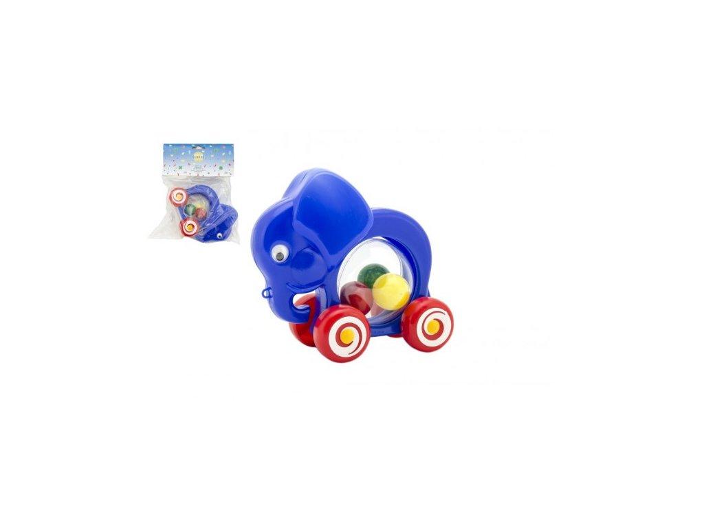 Slon s míčky tahací