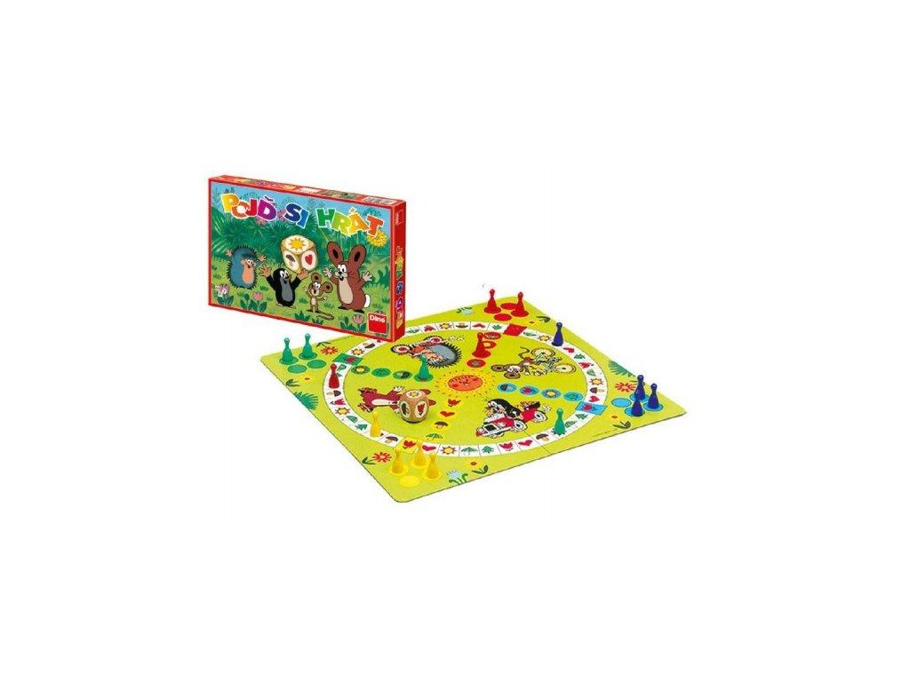 Pojď si hrát Krtek Člověče, nezlob se dětská společenská hra