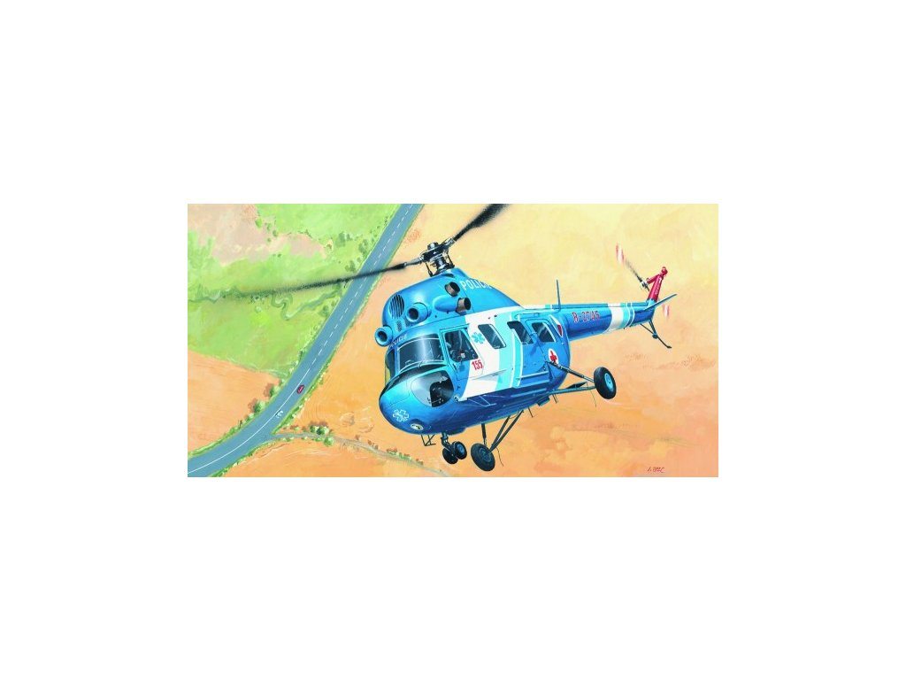 Model Kliklak Vrtulník Mil Mi 2 - Policie