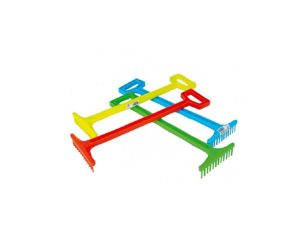 Nářadí hrábě plastové 4 barvy nářadí
