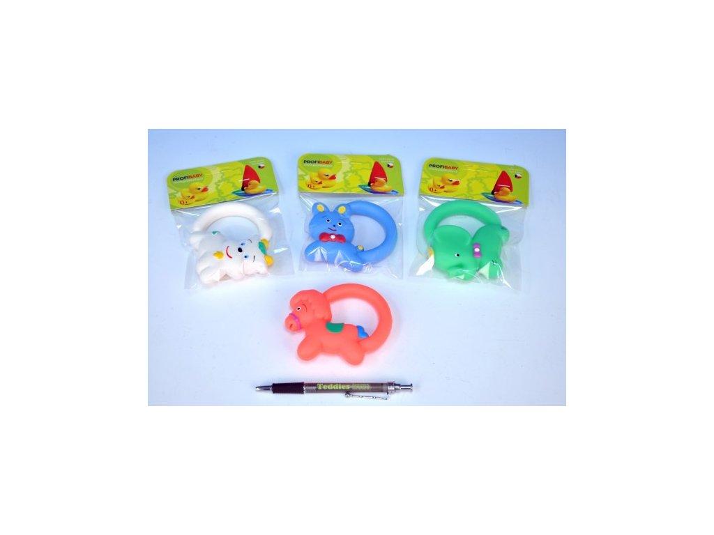 Hračka s úchytem gumová 5 druhů