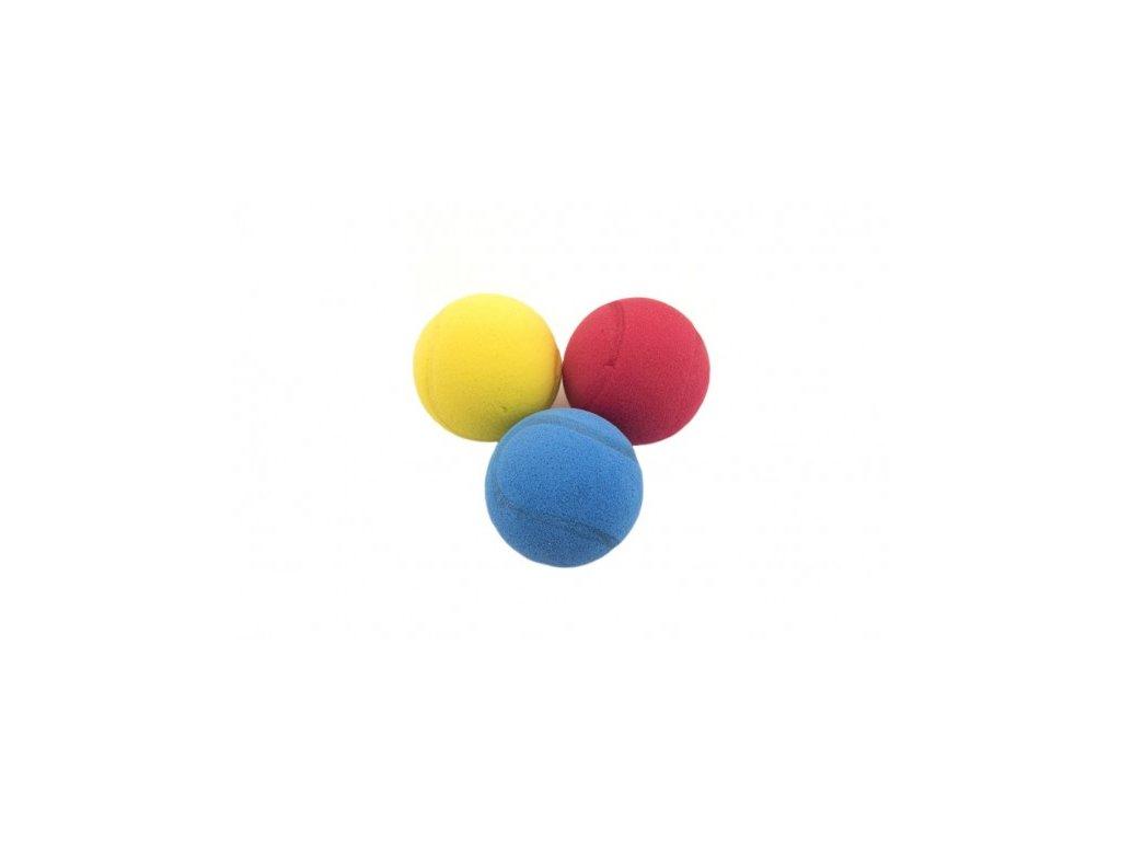 Soft míč na soft tenis pěnový 3 barvy