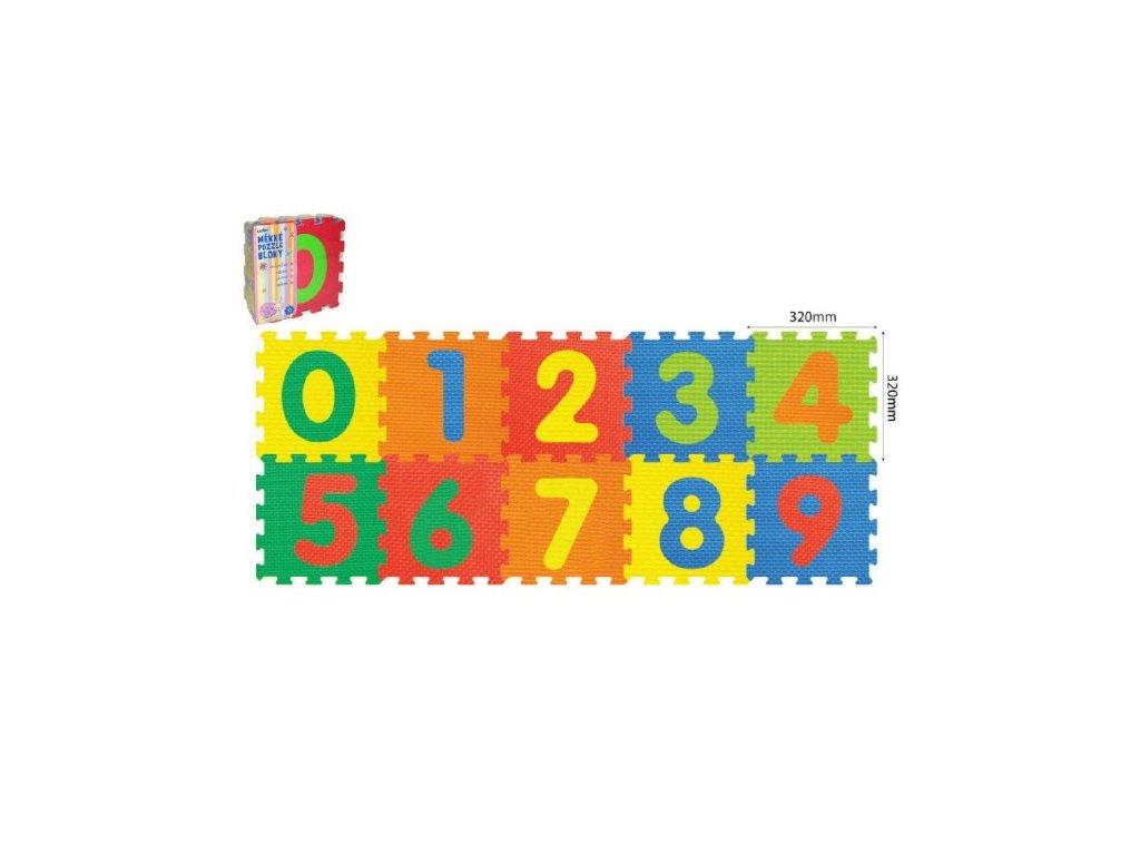Pěnové puzzle Číslice 32x32x1cm 10ks