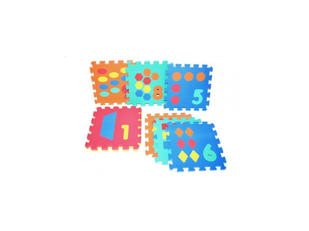 Pěnové puzzle Počítání/Tvary 10ks