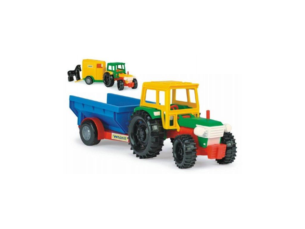Traktor Wader s vlečkami 2 barvy