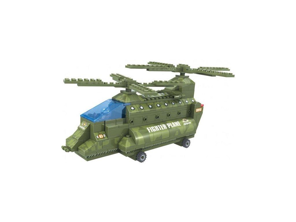 Stavebnice Dromader Vojáci Vrtulník 22602 308ks