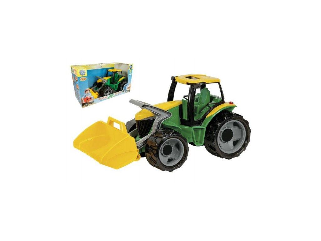 Traktor se lžící zeleno-žlutý