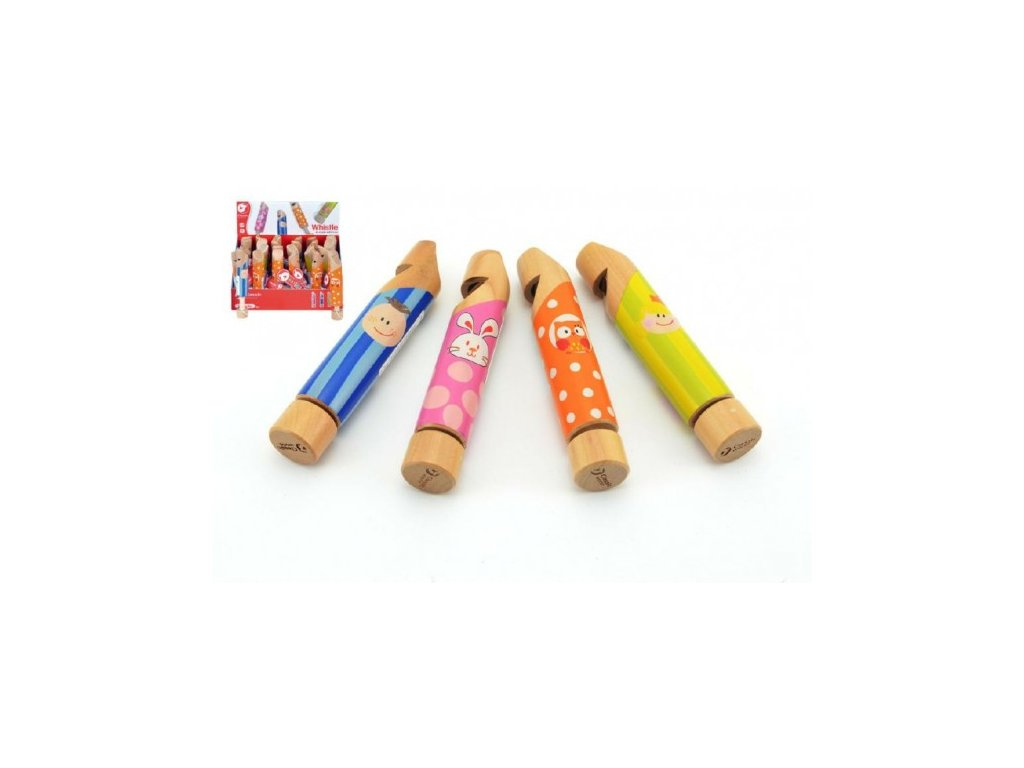 Dřevěná píšťalka 4 druhy