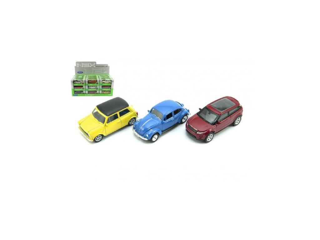 Auto Welly mini kov 12 druhů