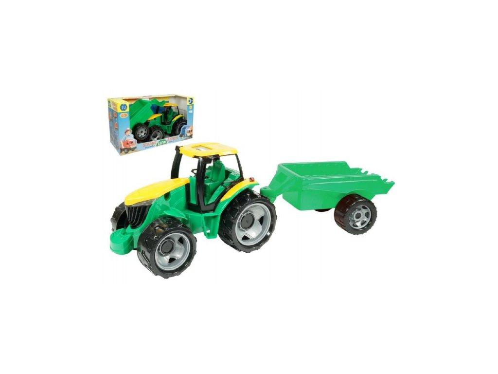 Traktor plast bez lžíce a bagru s vozíkem