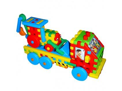 Stavebnice Nákladní auto s bagrem