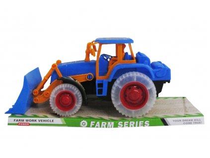 Plastový traktor s čelním nakladačem
