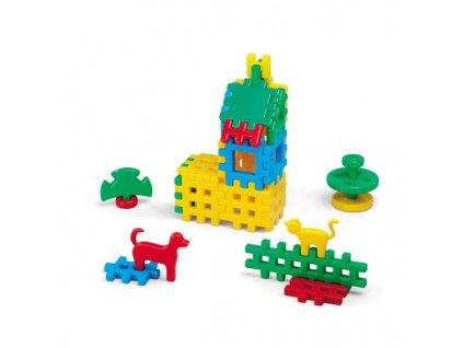 Stavebnicové kostky malý domeček 31ks